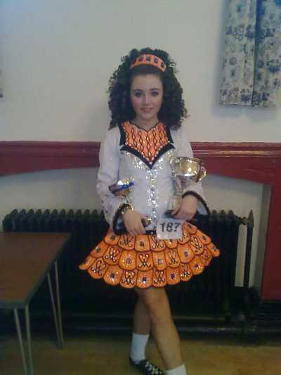 Rachel Drury after her win at the Shandon Feis in Newcastle