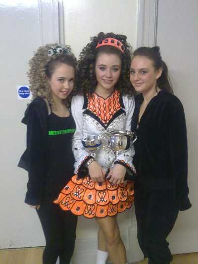 Robson Academy Dancers Esther, Rachel and Laura at the Shandon Feis in Newcastle