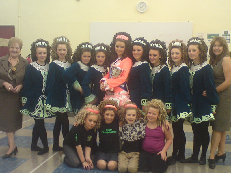 Members of the Robson Academy of Irish Dancing