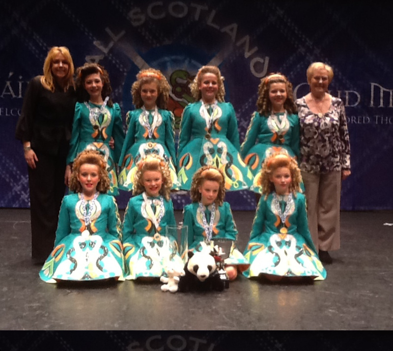 All Scotland under 13 girls Ceili Champions 2013 with Fiona and Margaret